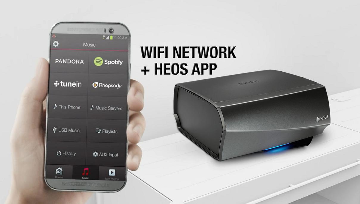 Denon HEOS Link HS2 | Music Server kiêm DAC và Pre-ampli | Anh Duy Audio